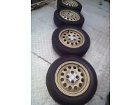 "PEUGEOT 205 GTI 14"" ALLOYS 4 STUD 306 / 206 / 106 / 307 / SAXO VTR VTS / BERLINGO / PARTNER etc £75"