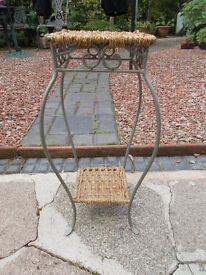 Ornamental Metal & Wicker Stand