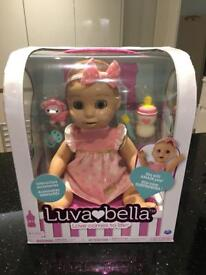 Luvabella blonde interactive doll - new and boxed