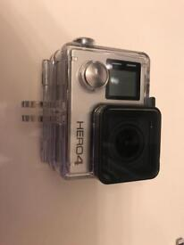 GoPro hero 4 silver with box and lots of extras