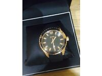 Rose gold face Hugo boss watch rubber strap 1 yr old