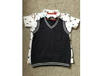 Boys Next Polo Shirt and Tank Top - 1.5-2 years