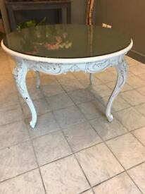 French style white wooden dining table for sale