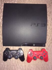 SONY PS3 2 CONTROLLERS AND 16 GAMES