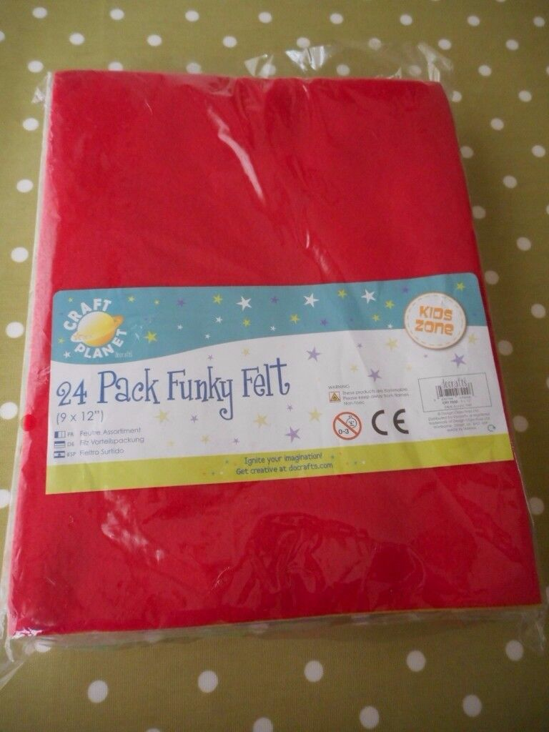 Bumper Pack of Multicoloured Felt 24 Pieces BNIP - cash on collection from Gosport Hampshire