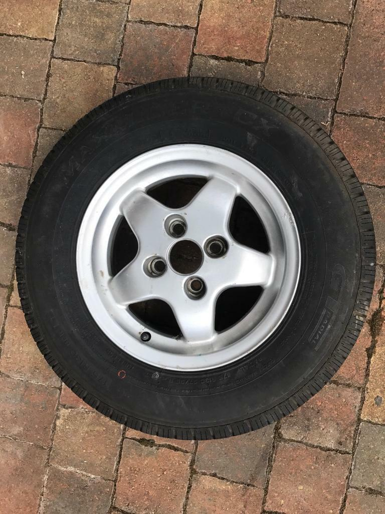 Caravan Alloy Wheels with Tyres - Two off