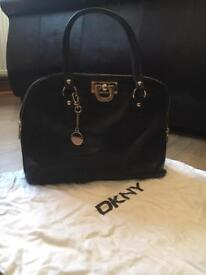 Donna Karan vintage black leather bag