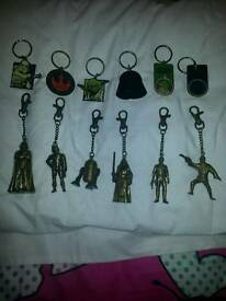 Colectable Star Wars key rings