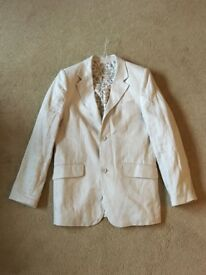 Boys Linen Cream Blazer
