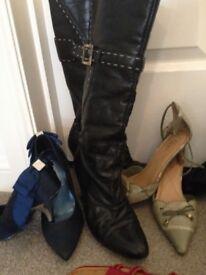 Shoes and Boots, size 3.5/4, Faith, Italian Florina, Potin etc.