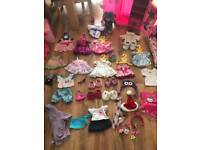 Build a bear clothes, teddies, shoes and furniture