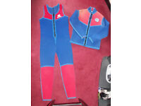 Man's 2 Piece Wetsuit Dungarees and Jacket Size L 38 inch chest 56 inches long