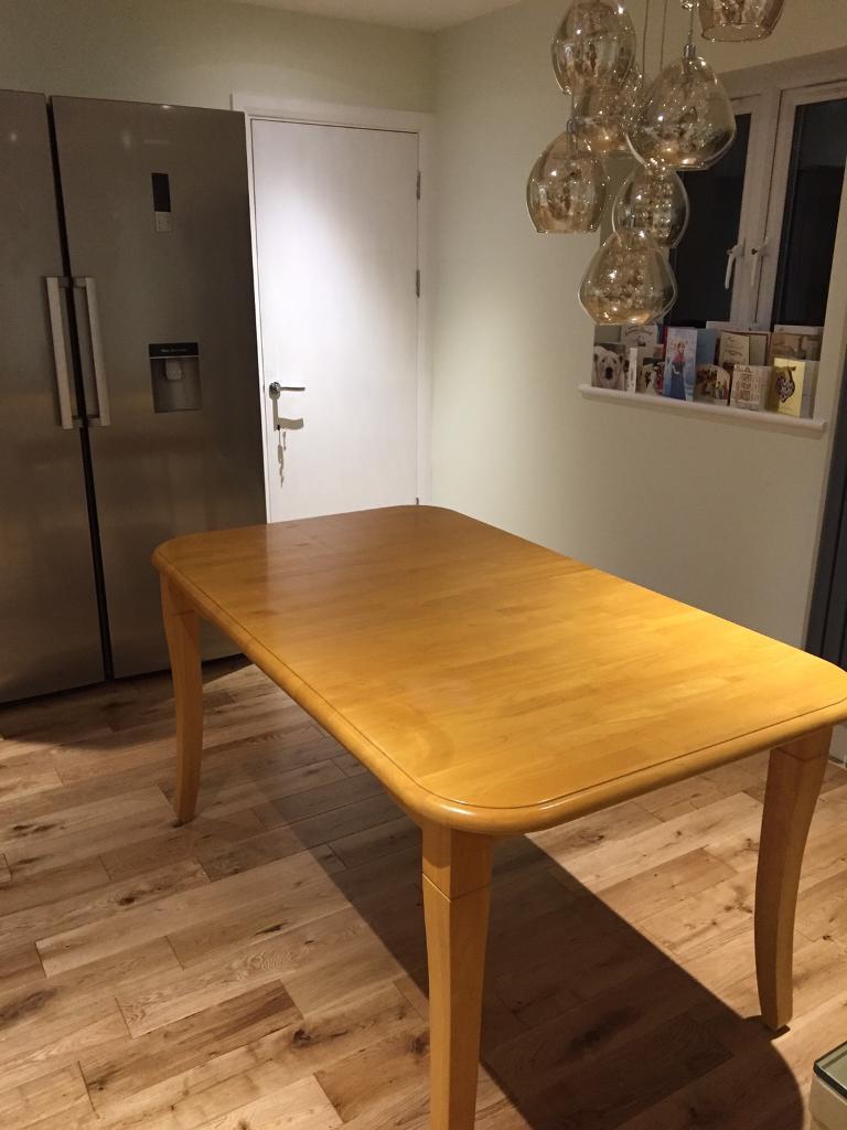 REDUCED PRICE  John Lewis rubber wood dining table and chairs. REDUCED PRICE  John Lewis rubber wood dining table and chairs   in
