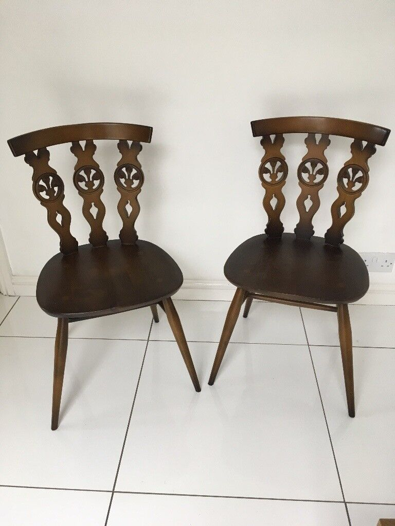 Two Cute Ercol Vintage Chairs For Sale Doncaster