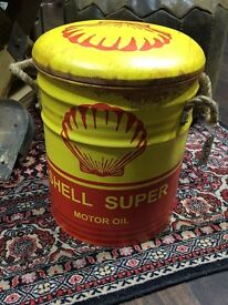Cool shell motor oil stool
