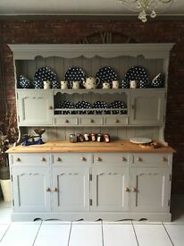 Quality Bespoke All Solid Pine French Country Kitchen Farmhouse Spice Dresser