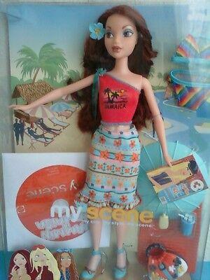My Scene Barbie Jammin Jamaica Chelsea Doll Bikini Accessories DVD New Rare