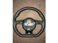 Audi flat bottom steering wheel
