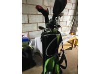 Golf bag plus mixture of clubs
