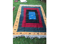 Beautiful Large P.e.r.s.i.a.n Handmade Wool Tribal Gabeh Pattern Rug Kleim soumak-kilim kerman