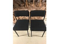 Pre loved two office/typists chairs in black