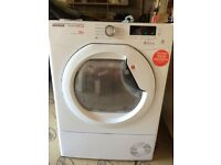 Hoover Condenser Tumble Dryer DMCD1013B in perfect working order with warranty until Jan 2021