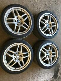 "Bmw rare genuine staggered clubsport e46 18"" alloy wheels"
