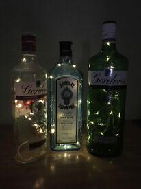 Gin Bottles lights