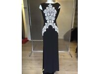 Black & White Long Prom / Party Dress Dress Size 8 - 10 NEW