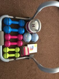 Bundle of fitness equipment - Davina, Kelly Holmes and Pro Fitness.