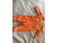 Halloween pumpkin dress for baby 0-3M