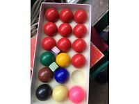 Pool/snooker table and balls