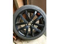 VXR8 Front / Spare Alloy Wheel Black From NEW & Bridgestone Tyre