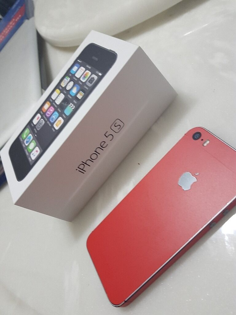 Iphone 5s mint conditionin Southside, GlasgowGumtree - IPhone 5s only few months old, mint condition. Still in warranty fully boxed. I put a red skin on it but can take it off if you wish. Any questions please ask
