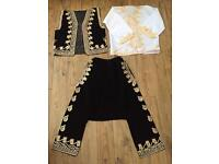 Authentic / Traditional Ottoman Turkish Embroidered Waistcoat, Kaftan & Trousers