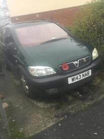 Vauxhall zafira 2L disiel