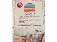 Karen's Home Ironing Services
