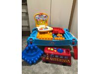 Mega Blocks Table, Train & blocks plus first laptop & Playtime Bus
