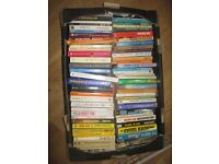 300 used books, different titles.