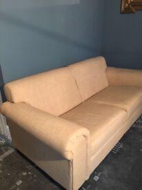 Tesco direct beige woven cotton three seater fabric sofa