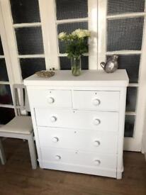 Victorian chest of 5 drawers Free Delivery Ldn shabby chic