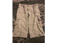 Ladies grey cargo shorts