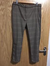 TopShop Size 14 tartan trousers