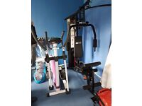 Pro fitness multi gym and kelly holmes cross trainer