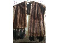 Vintage Mink Fur Stole/ Scarf/ Wrap