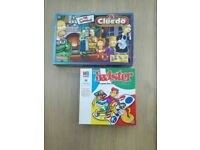 THE SIMPSONS CLEUDO & TWISTER BOARD GAMES. USED. GOOD CONDITION.