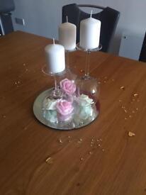 10 ready made wedding table centre pieces
