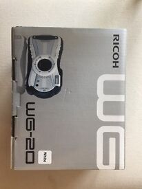 Ricoh WG-20 digital camera - white. Waterproof up to 10m