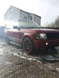 RANGE ROVER l322 vogue rare red land rover
