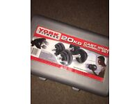 Cast Iron Dumbell Set - 20kg York Fitness